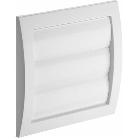 Gravité mur extérieur de l'obturateur capot de ventilation mur extérieur grille 150x150mm