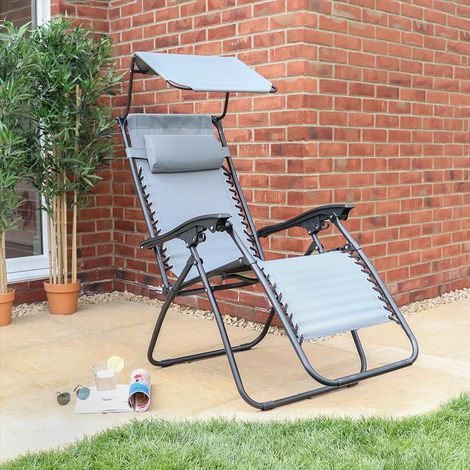 Gravity Chair With Canopy