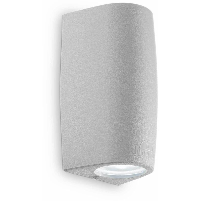 Image of 01-ideal Lux - Gray wall light KEOPE 2 bulbs