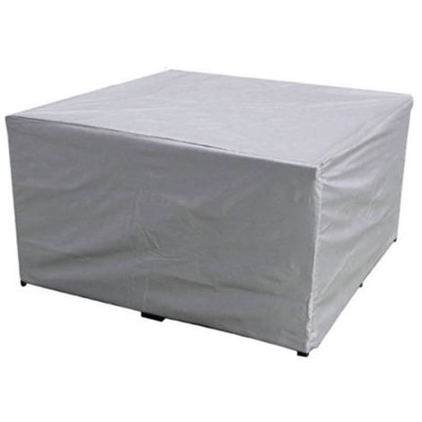 Gray Waterproof Rectangular Table Furniture Protective Cover 242X162X100Cm