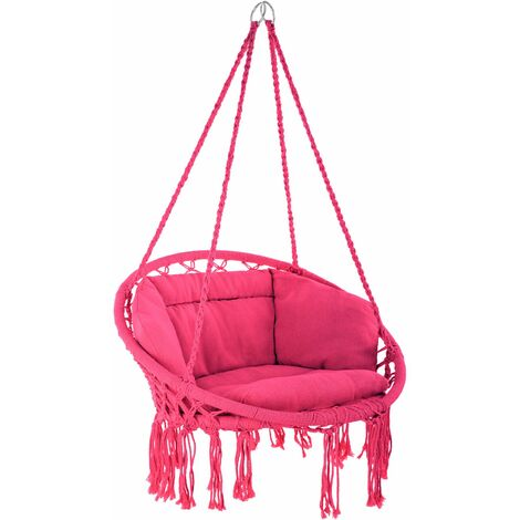 Hanging chair Grazia - garden swing seat, hanging egg chair, garden swing chair - pink