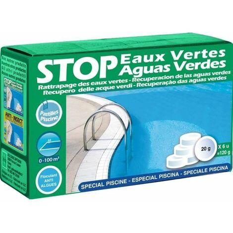 Gre 90147 Stop Eaux Pastilles de 20g, Vert, 14 x 5 x 9 cm