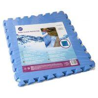 GRE POOLS - Dalle de protection bleue 50 x 50 cm - Pack de 9 dalles