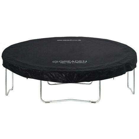 GREADEN Housse de Protection en PVC Noir pour La Trampoline Freestyle 305 CM BACHE de Protection pour Trampoline