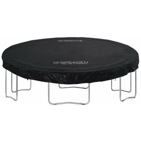 GREADEN Housse DE Protection en PVC Noir pour La Trampoline Freestyle 360 CM BACHE DE Protection pour Trampoline