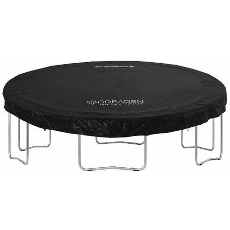 GREADEN Housse de Protection en PVC Noir pour La Trampoline Freestyle 430 CM BACHE de Protection pour Trampoline