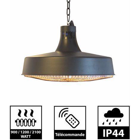 GREADEN - Parasol Chauffant Suspendu Infrarouge HAUMEA - Télécommande - Chauffage électrique de terrasse à Halogène 2100W IP44 - Réglable, Radiateur de style nordique Jardin/Patio/Tente/Terrasse/Intérieur - GR2RT5