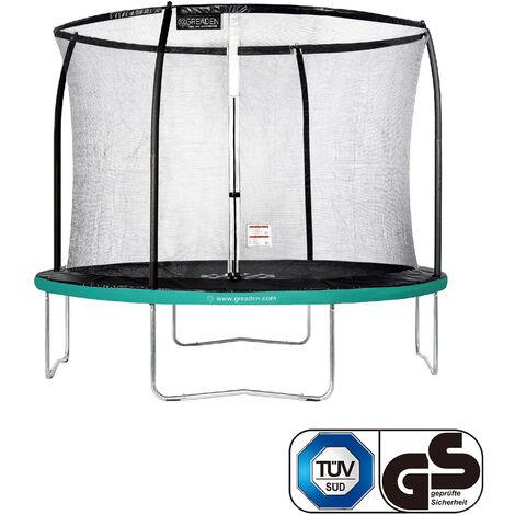 """main image of """"GREADEN Trampoline de jardin Freestyle Vert 305 fitness extérieur Ø 305cm - Filet de sécurité/coussin de protection/tapis de saut"""""""