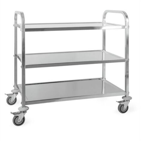 Great Gatsby Trolley Cart 3 Shelves Stainless Steel