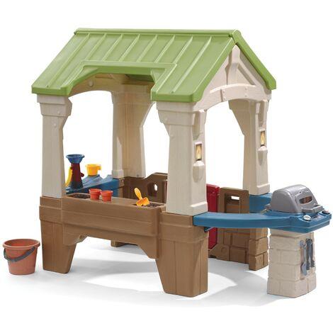 Great Outdoors Playhouse: Maisonnette pour enfants, fenêtres intégrées et bois très résistant