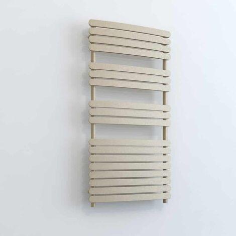 GREEBA ELEMENTS Flat Panel Modern Heated Towel Rail / Warmer - Dual Fuel