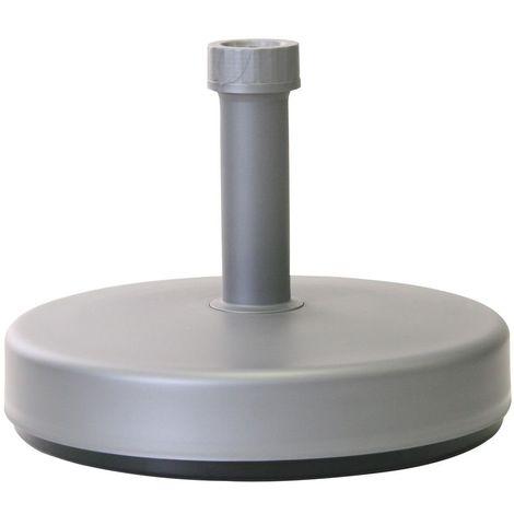 Supporto per ombrellone da Esterno da 10 kg riempibile Base per ombrellone Basamento per ombrellone Supporto per ombrellone da Spiaggia in plastica con palo in plastica per Acqua da Giardino