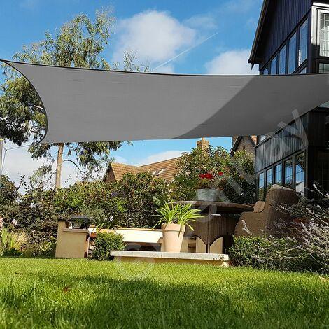 Green Bay Anthrazit Sonnensegel Sonnenschutz Segel f¨¹r Balkon Terrasse Camping Garten | UV-Schutz PES Polyester | Quadrat 5x5m
