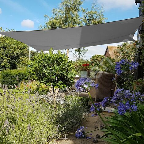Green Bay Anthrazit Sonnensegel Sonnenschutz Segel f¨¹r Balkon Terrasse Camping Garten   UV-Schutz PES Polyester   Rechteck 5x4m