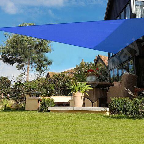 Green Bay Blau Sonnensegel Sonnenschutz Segel f¨¹r Balkon Terrasse Camping Garten | UV-Schutz PES Polyester | Dreieck 2x2x2m