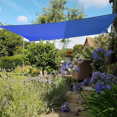 Green Bay Blau Sonnensegel Sonnenschutz Segel f¨¹r Balkon Terrasse Camping Garten   UV-Schutz PES Polyester   Rechteck 3x2m