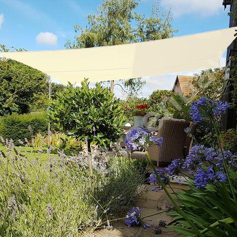 Green Bay Creme Sonnensegel Sonnenschutz Segel f¨¹r Balkon Terrasse Camping Garten   UV-Schutz PES Polyester   Rechteck 5x4m