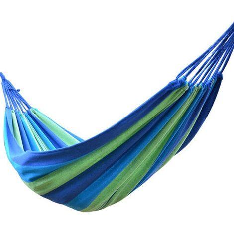 Green Bay Hamac en Toile 200x80cm Bleu pour Jardin Patio Plage Voyage Camping Hamac ¨¤ Balan?oire avec Sac de Rangement