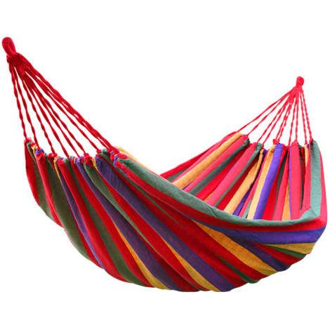 Green Bay Hamac en Toile 200x80cm Rouge pour Jardin Patio Plage Voyage Camping Hamac ¨¤ Balan?oire avec Sac de Rangement