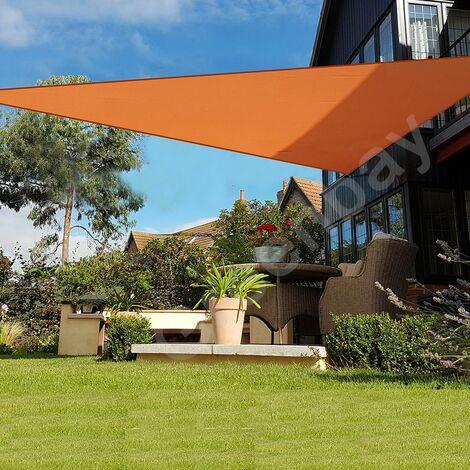 Green Bay Orange Sonnensegel Sonnenschutz Segel f¨¹r Balkon Terrasse Camping Garten | UV-Schutz PES Polyester | Dreieck 2x2x2m