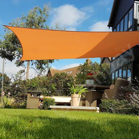 Green Bay Orange Sonnensegel Sonnenschutz Segel f¨¹r Balkon Terrasse Camping Garten | UV-Schutz PES Polyester | Quadrat 3.6x3.6m