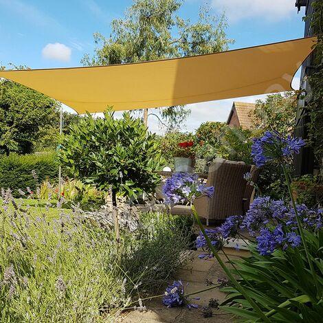 Green Bay Sand Sonnensegel Sonnenschutz Segel f¨¹r Balkon Terrasse Camping Garten   UV-Schutz PES Polyester   Rechteck 3x4m