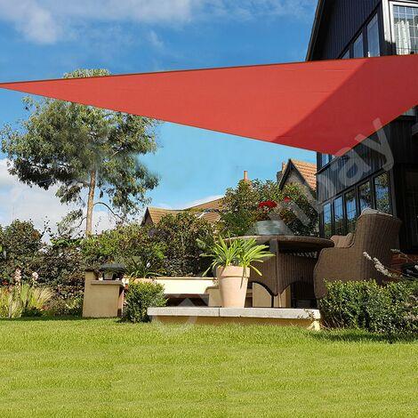 Green Bay Terrakotta Sonnensegel Sonnenschutz Segel f¨¹r Balkon Terrasse Camping Garten | UV-Schutz PES Polyester | Dreieck 3.6x3.6x3.6m