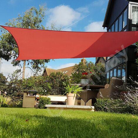 Green Bay Terrakotta Sonnensegel Sonnenschutz Segel f¨¹r Balkon Terrasse Camping Garten | UV-Schutz PES Polyester | Quadrat 4x4m