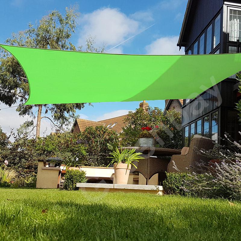 Green Bay Voile d'Ombrage 160g/m2 Jardin Patio Fête Toile Solaire 98% Résiste aux UV Carré 3.6x3.6m Vert Clair