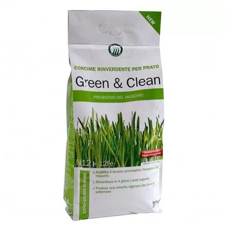 Green & Clean - Engrais vert et anti-mousse de 4 Kg