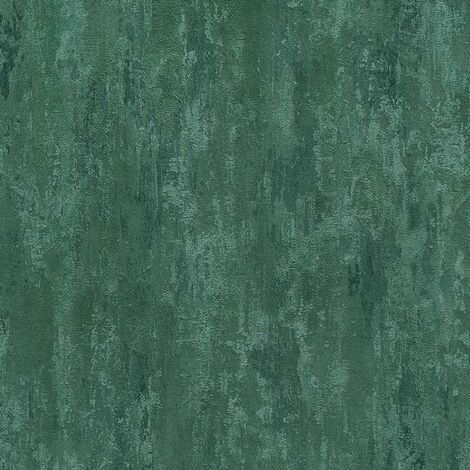 Green Distressed Industrial Wallpaper AS Creation Textured Metallic Effect Vinyl