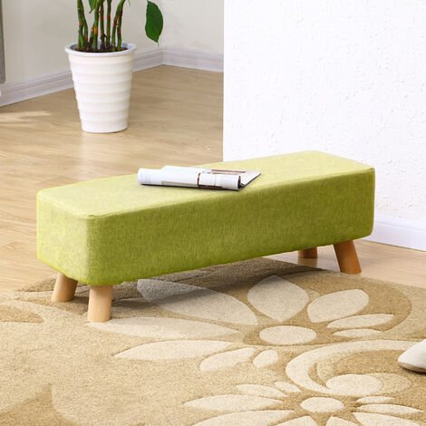Green Fabric Ottoman Footstool Seat Pouffe Stool Bench Footrest Chair