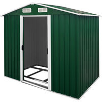 Green Garden Shed 210x132x186 cm Large Outdoor Storage