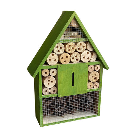 Green Insect and Bug Hotel 285x95x400mm, House for Hibernating Bees & other Insects