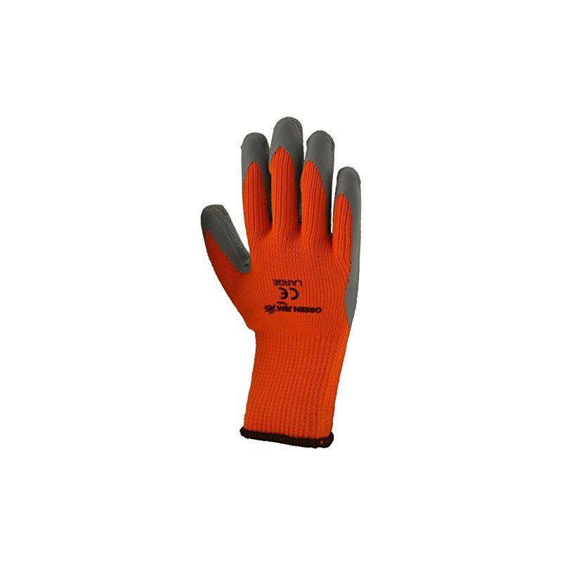 Image of High Vis Winter Work Gloves, Orange, Large - Green Jem