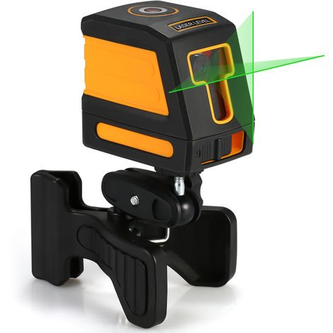 Green light 2-wire laser spirit level shipped without battery orange with stand
