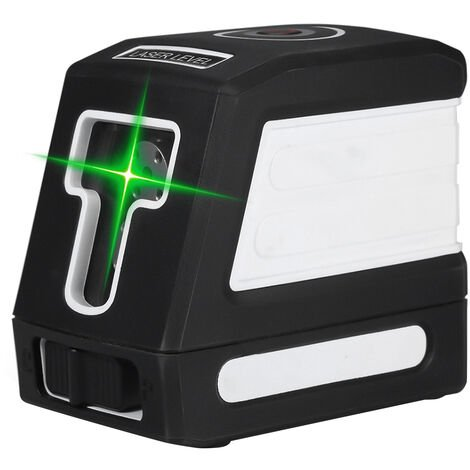 Green light 2-wire laser spirit level shipped without battery white without stand