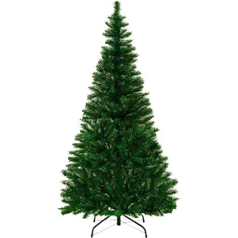 Green or White Christmas Tree Colour Size Choice Artificial Xmas Tree 60 - 180 cm
