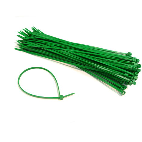 GREEN PLASTIC CABLE TIES / WIRE TIES - ALL SIZES - HIGH QUALITY HEAVY DUTY TIES