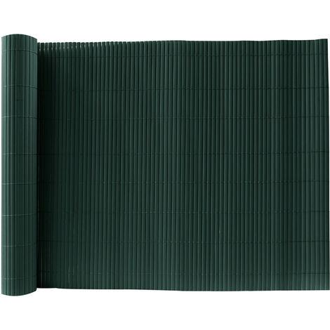 Green PVC Fence Screen Bamboo Mat Border Panel Garden Wall Privacy Protect,1.5x5M