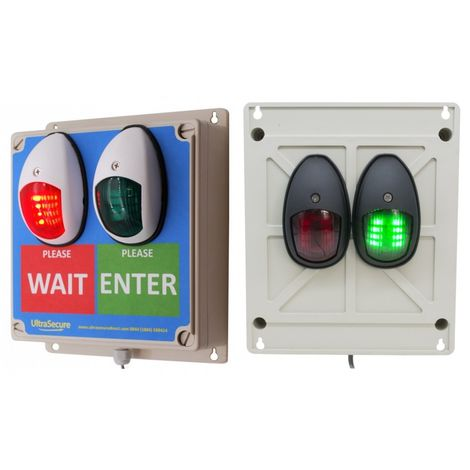 Green & Red Double Sided Wireless Door Entry Lights [009-4540]