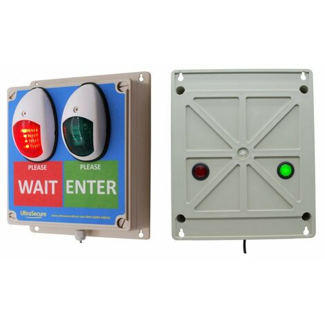 Green & Red Double Sided Wireless Door Entry Lights 2 [009-4550]