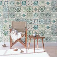 Green tiles Self-adhesive wall mural 216cm x 162cm