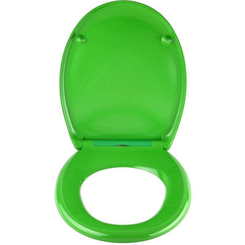 Awesome Green Toilet Seat In Duroplast High Quality With Automatic Lowering And Detachable Alphanode Cool Chair Designs And Ideas Alphanodeonline