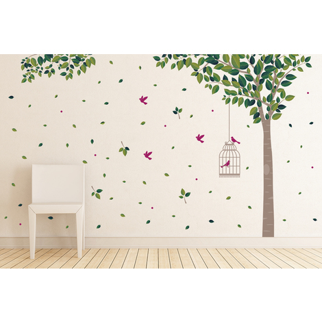 Green Tree Wall Art - 286cm x 180cm