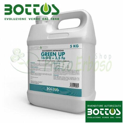 Green Up 16-0-0 + 3,5 Fe - Engrais liquide pour pelouse de 5 Kg