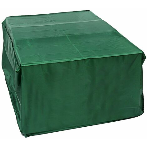 GREEN waterproof garden furniture covers rectangle BBQ rattan table outdoor cube WASHED