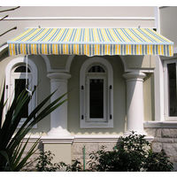 Greenbay 2 x 1.5m Manual Awning Garden Patio Canopy Sun Shade Shelter Retractable 8 Colour (Yellow-Stripe)