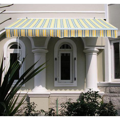 Greenbay 2 x 1.5m Manual Awning Garden Patio Canopy Sun Shade Shelter Retractable