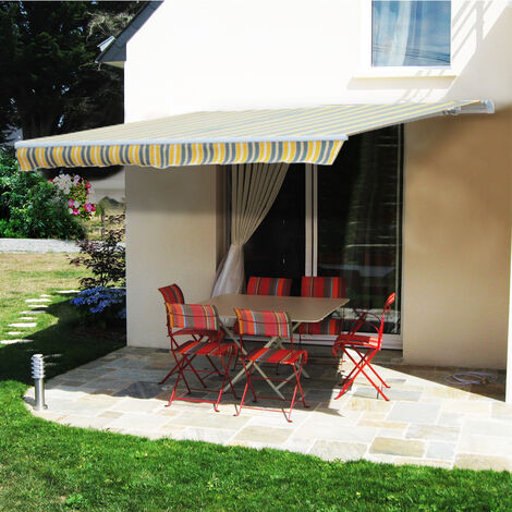 Greenbay 2.5 x 2m Manual Awning Garden Patio Canopy Sun Shade Shelter Retractable